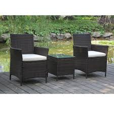Patio Furniture Under 300 Dollars by Amazon Com Patio Rattan Outdoor Garden Furniture Set Of 3pcs