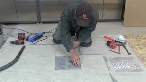 how to replace a single cracked broken floor tile