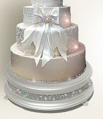 Sparkling Crystal Elegance Wedding Cake Stands From 13900