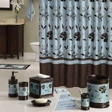 home bed bath bathroom bath accessories blue white bath