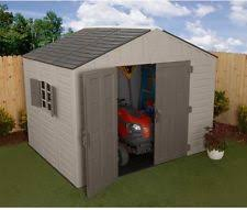 keter woodland storage shed with sturdy floor panel beige brown ebay