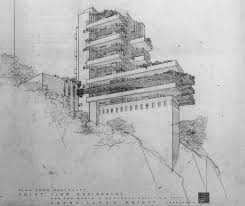 100 Frank Lloyd Wright Sketches For Sale Image Detail For STREETS OF BEIGE Drawings By American Architect