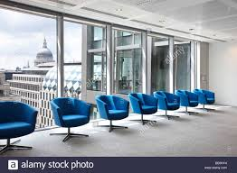 7 Turquoise Waiting Room Chairs Office London Stock Photo ...