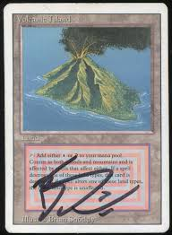 Yugioh Volcanic Deck 2016 by Magic The Gathering 3rd Ed Revised Single Volcanic Island Mp