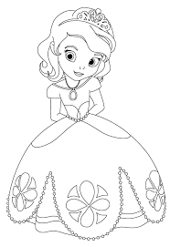 Disney Junior Coloring Pages Sofia