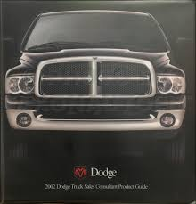 100 Ram Truck Dealer 2002 Dodge Album Data Book 1500 2500 3500 Pickup