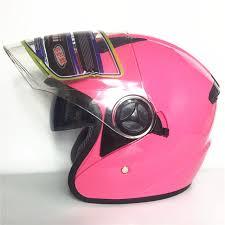 Hot Sell Pink Synthetic Women Vintage Motorcycle Motorbike Vespa Open Face Half Motor Scooter Helmets Visor