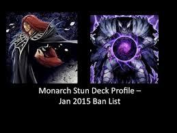 yu gi oh monarch stun deck profile jan 2015 banlist youtube