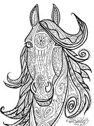Coloring Pages Of Horses Jumping Realistic Horse