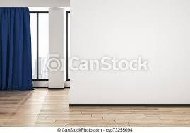 blaues wohnzimmer boden wand modern auf hölzern leer