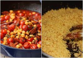 comment cuisiner du boulgour ragoût de chorizo pois chiches et tomates cerises pilaf de