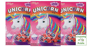 Publix Kelloggs Unicorn Cereal ONLY 140 Per Box SWEET