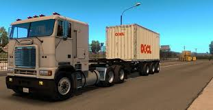 Container 20ft 3 Axles Trailer - ATS Mod | American Truck Simulator Mod