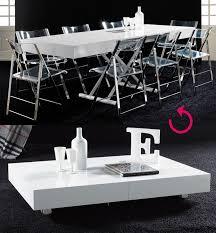 table basse relevable blanc laqué design jacinta