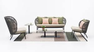 kodo lounge sofa handgeflochtenes acrylseil l 165 cm vincent sheppard