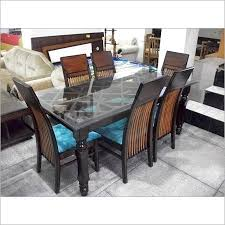 Inspiring Seater Dining Table Size India Home Fascinating Glass Tables Design