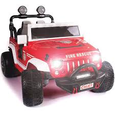 100 Pink Fire Trucks Big Two Seater Ride On Truck For Kids To Drive Around Town 15
