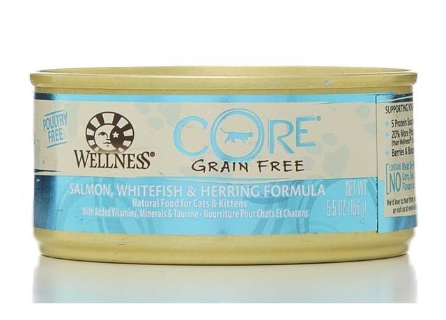 Core Grain Free Canned Cat Food - Salmon Whitefish & Herring, 5.5oz