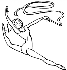 Free Printable Gymnastics Coloring Pages For Kids New