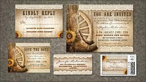 Cowboy Shoes Wedding Invitation