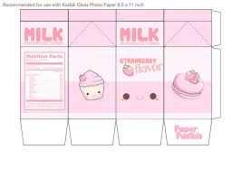 Kawaii Milk Carton Template