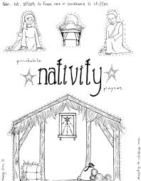 Manger Coloring Page Jesus In The Pages Nativity Playset Craft Gallery Ideas