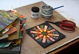 Basic Instructions For Creating Collage Mandalas
