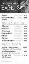 Tim Hortons Pumpkin Spice Latte Calories by Einstein Bagels Menu Nutrition Facts Nutrition And Dietetics