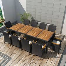 VidaXL Garden Dining Table Chairs Set 21 Piece Black Wicker Rattan ... Teak Hardwood Ash Wicker Ding Side Chair 2pk Naples Beautiful Room Table Wglass Model N24 By Rattan Kitchen Youtube Pacific Rectangular Outdoor Patio With 6 Armless 56 Indoor Set Looks Like 30 Ikea Fniture Sicillian 8 Seater Square Stone And Chairs In Half 100 Handmade Tablein Garden Sets Burridge 4ft Round In Antique White Oak World New Ideas Awesome Unique Black