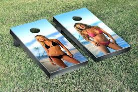 Bean Bag Game Toss Rules Bikini Girls Tailgate Large Memory Foam