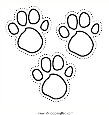 Blues Foot Prints Coloring Pages
