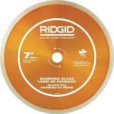 cutting glass tile with saw ridgid 7 in glass tile blade hd gt70p the home depot