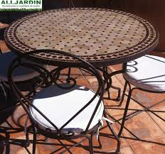 table ronde mosaique fer forge charmant table jardin ronde mosaique 10 table rabattable