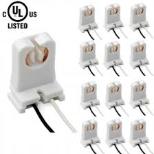 Non Shunted T8 Lamp Holder by Ul Listed Non Shtounted T8 Lamp Holder Socket With 10 Inch Wires
