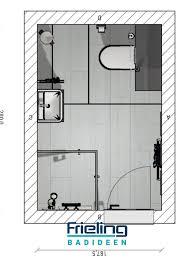 das kleine bad mit schräge 3d planung vogelperspektive