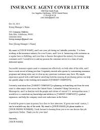 Insurance Agent Cover Letter Sample