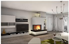 das wohnzimmer mit kamin oder ofen gestalten ideen für ein