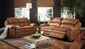 Living Room Decorating Ideas With Rustic Brown Leather Sofa Couch