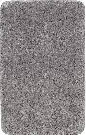 kingod badematte 50x80cm badezimmerteppich badteppich rutschfest badvorleger grau weich und flauschig textil waschbar tpr material auf der