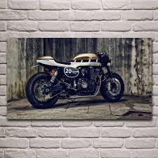 kühlen motorrad xjr1300 cafe racer bike wohnzimmer decor home wand kunst dekor holz rahmen stoff poster kh601