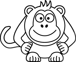 Image Of Monkey Coloring Pages Printable