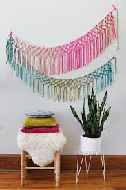 Colorful Crochet Wall Decor