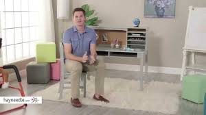 Step2 Art Master Desk And Stool by Guidecraft Media Desk U0026 Chair Set Gray Product Review Video