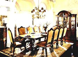 Classic Dining Room Using Ethan Allen Furniture With Oval Wooden Chairs Contemporary Elegant Furnitures Long Table
