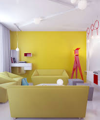 Yellow Living Room Color Schemes by Download Yellow Wall Room Home Intercine