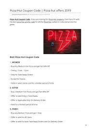 Pizza Hut Coupon Code By Anuj Bhagat - Issuu Pizza Hut Coupon Code 2 Medium Pizzas Hut Coupons Codes Online How To Get Pizza Youtube These Coupons Are Valid For The Next 90 Years Coupon 2019 December Food Promotions Hot Pastamania Delivery Promo Bridal Buddy Fiesta Free Code Giveaway