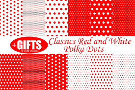 classic red and white polka dot digital paper scrapbook red