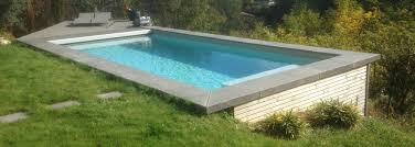 margelle piscine en bois piscine bois 8x3 5 avec margelle béton ozeobois ozeobois