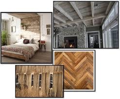reclaimed wood look