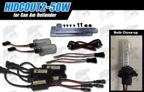 can am outlander 12 15 50w hid conversion kit high beam